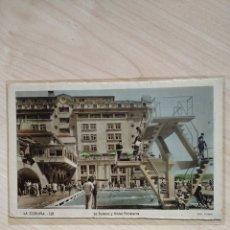 Postales: POSTAL LA CORUÑA. LA SOLANA Y HOTEL FINISTERRE.. Lote 103827595