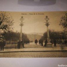 Postales: ORENSE. PASEO DE LA ALAMEDA. SIN CIRCULAR. Lote 105690382