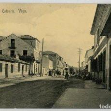 Postales: GALICIA. VIGO (PONTEVEDRA). BARRIO DEL CALVARIO. MUY RARA.. Lote 106586715