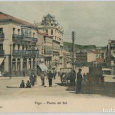 Postales: GALICIA. VIGO (PONTEVEDRA). PUERTA DEL SOL. COLOREADA. RARA.. Lote 106587875