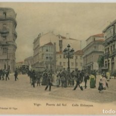 Postales: GALICIA. VIGO (PONTEVEDRA). PUERTA DEL SOL. CALLE ELDUAYEN. COLOREADA. RARA.. Lote 106587967