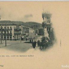 Postales: GALICIA. VIGO (PONTEVEDRA). PUERTA DEL SOL. CAFE MENDEZ NUÑEZ. RARA.. Lote 106588071
