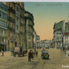 Postales: GALICIA. VIGO (PONTEVEDRA). PUERTA DEL SOL. COLOREADA. RARA.. Lote 106588191