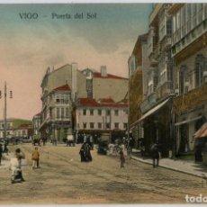 Postales: GALICIA. VIGO (PONTEVEDRA). PUERTA DEL SOL. COLOREADA. MUY RARA.. Lote 106588287