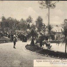 Postales: PONTEVEDRA ANTIGUA POSTAL AGUAS MINERALES LEREZ VISITANTES DEL PARQUE. Lote 106593519