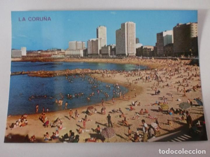 POSTAL 126 LA CORUÑA. PLAYA DE RIAZOR, EDICIONES ARRIBAS. GALICIA (Postales - España - Galicia Moderna (desde 1940))