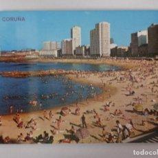 Postales: POSTAL 126 LA CORUÑA. PLAYA DE RIAZOR, EDICIONES ARRIBAS. GALICIA. Lote 107788511