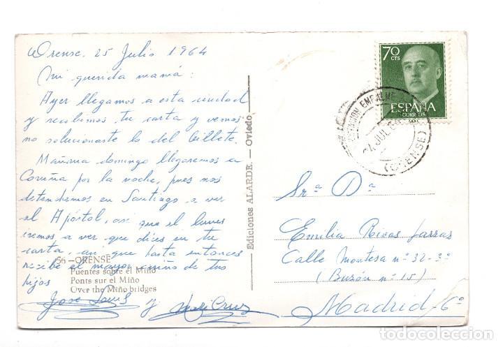 Postales: ORENSE .- PUENTES SOBRE EL MIÑO - ED. ALARDE - Foto 2 - 107977635
