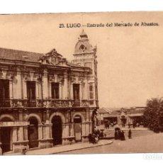 Postales: 23 LUGO.- ENTRADA DEL MERCADO DE ABASTOS - GRAFOS.. Lote 107978127