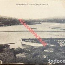 Postales: PONTEVEDRA , VISTA PARCIAL DEL RIO, EDITOR EJG, MUY RARA. Lote 108433427