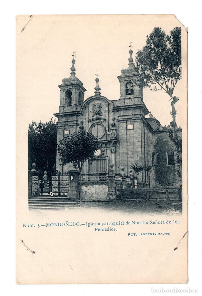 MONDOÑEDO IGLESIA PARROQUIAL NUESTRA SEÑORA REMEDIOS FOTO LAURENT (Postales - España - Galicia Antigua (hasta 1939))