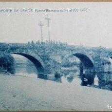 Postales: POSTAL MONFORTE DE LEMOS Nº 12 PUENTE ROMANO SOBRE EL RIO CABE ED THOMAS LUGO GALICIA PERFECTA CONSE. Lote 109264403
