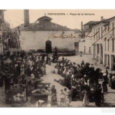 Postales: GALICIA. PONTEVEDRA. PLAZA DE LA VERDURA.. Lote 109631431