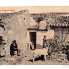 Postales: TIPOS GALLEGOS. NA EIRA. FOTOTIPIA THOMAS. Lote 109640115