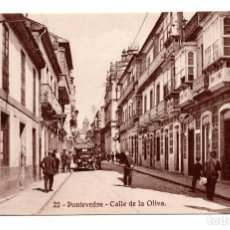 Postales: PONTEVEDRA. Nº 22. CALLE DE LA OLIVA. FOTOTIPIA DE KALLMEYER Y GAUTIER. SIN CIRCULAR.. Lote 109778471