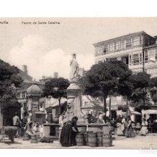Postales: CORUÑA. FUENTE DE SANTA CATALINA. ED. LIBRERIA LINO PEREZ. SIN CIRCULAR. Lote 109887923