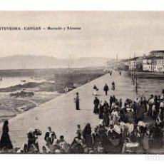 Postales: GALICIA. CANGAS (PONTEVEDRA). MERCADO Y SÁRSENA.. Lote 109889399