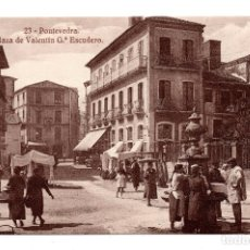 Postales: 23 PONTEVEDRA .- PLAZA DE VALENTÍN GARCÍA ESCUDERO. HELIOTIPIA DE KALLMEYER Y GAUTIER. Lote 110000435
