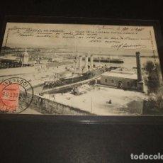 Postales: EL FERROL LA CORUÑA ARSENAL DE FERROL DIQUE DE LA CAMPANA CON EL CARLOS V 1905. Lote 110104155