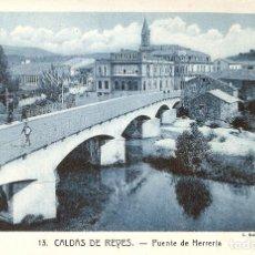 Postales: CALDAS DE REYES 13 PUENTE DE HERRERIA ROISIN S.C.. Lote 112728087