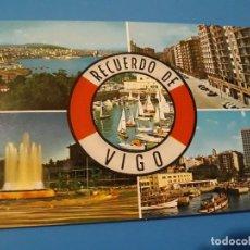 Postales: POSTAL VIGO COMPUESTA 5 VISTAS SALVAVIDAS EDITORIAL ARRIBAS Nº189 AÑOS 70*. Lote 112739603