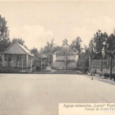 Postales: AGUAS MINERALES LÉREZ (PONTEVEDRA).- CAMPO DE LAWN-TENNIS. Lote 113145555