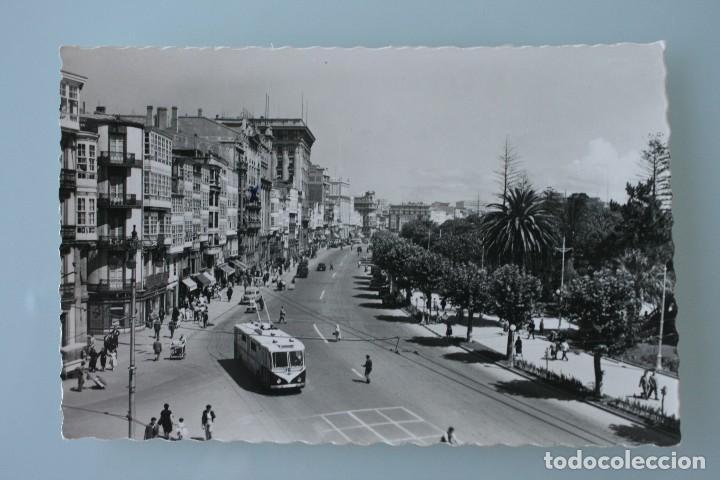 ANTIGUA TARJETA POSTAL FOTOGRAFIA LA CORUÑA CANTONES DE JOSE ANTONIO AVENIDA – AÑOS 60 – CIRCULADA (Postales - España - Galicia Moderna (desde 1940))