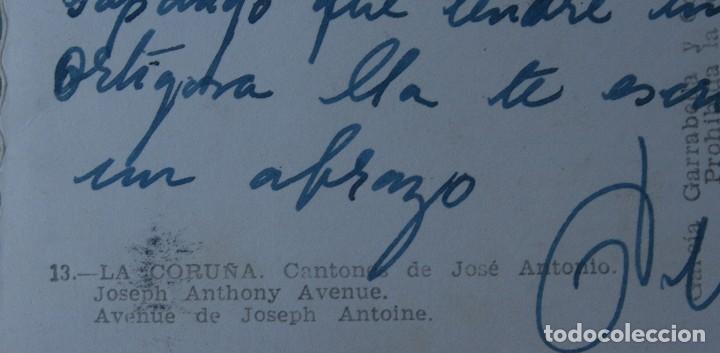 Postales: ANTIGUA TARJETA POSTAL FOTOGRAFIA LA CORUÑA CANTONES DE JOSE ANTONIO AVENIDA – AÑOS 60 – CIRCULADA - Foto 2 - 113374235