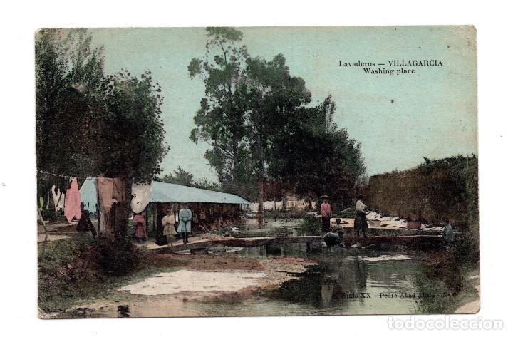 VILLAGARCIA DE AROSA - LAVADEROS - PEDRO ABAD ABALO 6 - CIRCULADA 1914 (Postales - España - Galicia Antigua (hasta 1939))