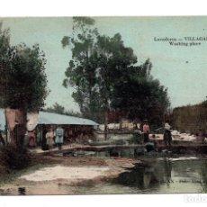 Postales: VILLAGARCIA DE AROSA - LAVADEROS - PEDRO ABAD ABALO 6 - CIRCULADA 1914. Lote 115032387