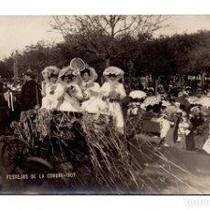 Postales: FERRER. CORUÑA.- FESTEJOS DE LA CORUÑA - POSTAL FOTOGRÁFICA - 1907. Lote 115037267