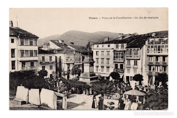 VIVERO (LUGO).- PLAZA DE LA CONSTITUCION- UN DIA DE MERCADO (Postales - España - Galicia Antigua (hasta 1939))