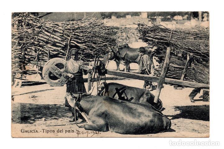 GALICIA.-. TIPOS DEL PAIS.- CIRCULADA EN 1921 (Postales - España - Galicia Antigua (hasta 1939))
