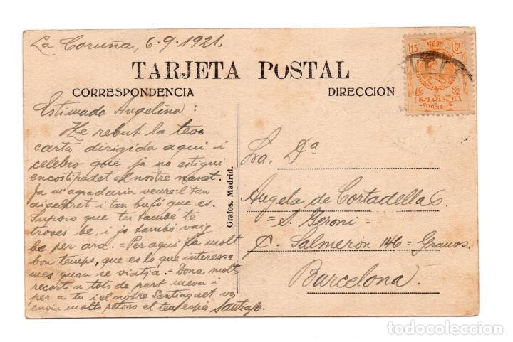 Postales: GALICIA.-. TIPOS DEL PAIS.- CIRCULADA EN 1921 - Foto 2 - 115075203