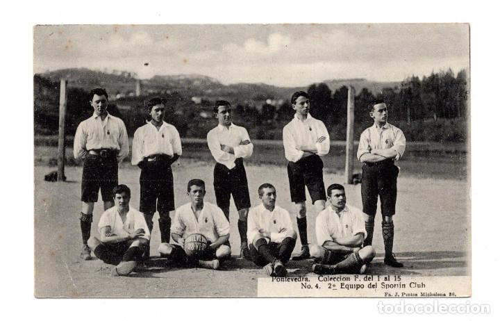 TARJETA POSTAL. FÚTBOL. PONTEVEDRA. 2º EQUIPO DEL SPORTIN CLUB. (Postales - España - Galicia Antigua (hasta 1939))