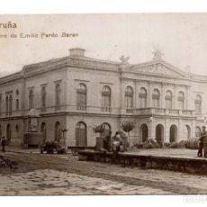 Postales: LA CORUÑA.- POSTAL FOTOGRÁFICA - TEATRO DE EMILIA PARDO BAZÁN - GG. Lote 115139475