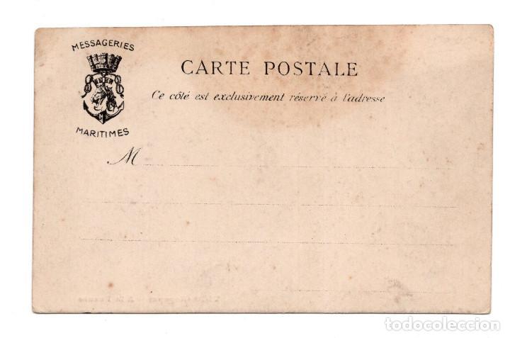Postales: VIGO .- ESPAÑA, A LA FUENTE, MESSAGERIES MARITIMES - Foto 2 - 115246075