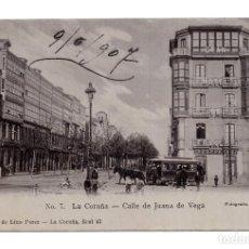 Postales: LA CORUÑA - 7 - CALLE DE JUANA DE VEGA - LIB. LINO PEREZ. Lote 115248587
