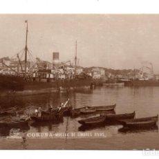 Postales: CORUÑA .- MUELLE DE LINARES RIVAS - POSTAL FOTOGRÁFICA. FOTO FERRER. Lote 115255051