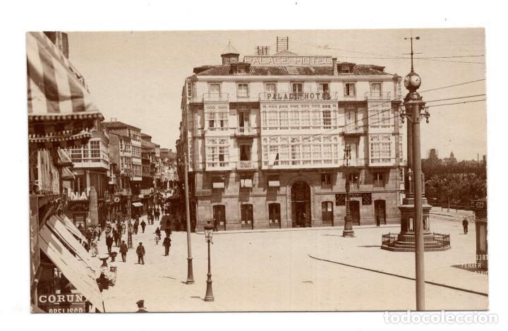 CORUÑA .- HOTEL PALACE - POSTAL FOTOGRÁFICA. FOTO FERRER -PUEBLOS, PAISAJES, ARTE Y COSTUMBRES (Postales - España - Galicia Antigua (hasta 1939))