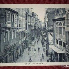 Postales: POSTAL ANTIGUA LA CORUÑA - CALLE REAL - FOTOGRAFÍA DE L.ROISIN 14X9. Lote 116446395