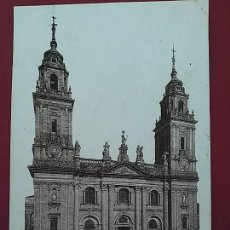 Postales: ANTIGUA POSTAL DE LUGO. CATEDRAL, FACHADA PRINCIPAL. HELIOTIPIA.. Lote 116661571