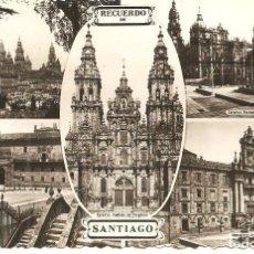 Postales: POSTAL, RECUERDO SANTIAGO DE COMPOSTELA, VISTAS, SIN EDITOR, CIRCULADA. Lote 116678907