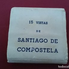 Postales: ALBÙM ACORDEÓN 15 VISTAS DE SANTIAGO DE COMPOSTELA.. Lote 116689671