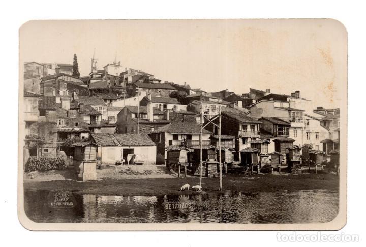 BETANZOS (CORUÑA).- VISTA PARCIAL. POSTAL FOTOGRÁFICA. FOTO FERRER (Postales - España - Galicia Antigua (hasta 1939))