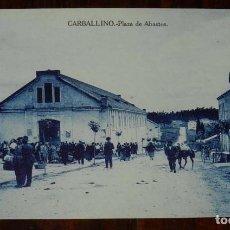 Postales: CARBALLINO (ORENSE) PLAZA DE ABASTOS, ED. ANDRES FERNANDEZ, SIN CIRCULAR. Lote 117567247