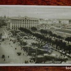 Postales: FOTO POSTAL DE LA CORUÑA, PARQUE DE MENDEZ NUÑEZ, FOTO FERRER, CIRCULADA.. Lote 117739499