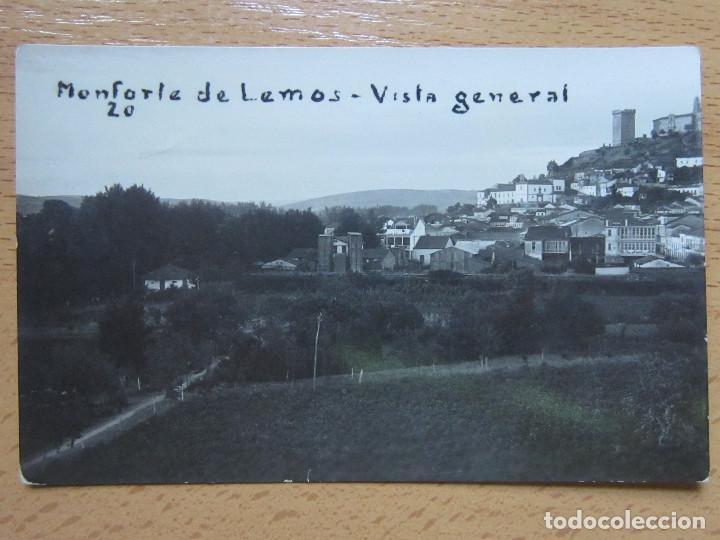 POSTAL FOTOGRAFICA DE MONFORTE DE LEMOS (LUGO)-VISTA GENERAL, 20 (Postales - España - Galicia Antigua (hasta 1939))