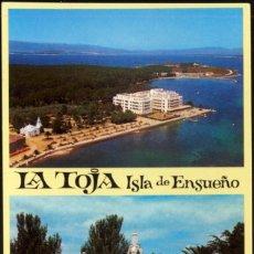 Postales: 15 - LA TOJA ISLA DE ENSUEÑO .- GRAN HOTEL Y CAPILLA. Lote 118543863