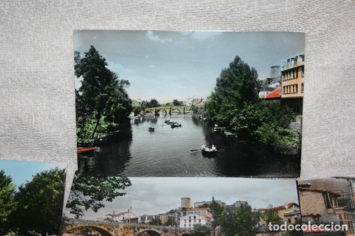 Postales: Lugo, lote de 10 postales coloreadas de Monforte de Lemos ediciones arribas. sin circular - Foto 4 - 118855775
